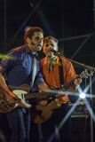 Calexico levande konsert i Italien, Ariano irpino royaltyfri bild