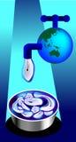 Calez le robinet Images libres de droits