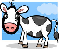 Calf baby farm animal cartoon illustration Royalty Free Stock Photography
