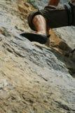 Calf of climber Royalty Free Stock Image