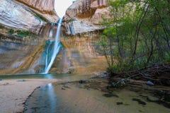Calf Creek Falls, Calf Creek Canyon, Grand Staircase-Escalante N. Lower Calf Creek Falls, Calf Creek, Grand Staircase-Escalante National Monument, south Utah royalty free stock photo