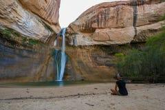 Calf Creek Falls, Calf Creek Canyon, Grand Staircase-Escalante N Royalty Free Stock Image