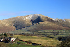 The Calf, Howgill fells from Beckfoot, Cumbria. Looking East from near Beckfoot in Cumbria, England towards the Howgill Fells with The Calf (hill) in the center Royalty Free Stock Photography