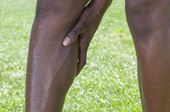Calf injury Royalty Free Stock Photo