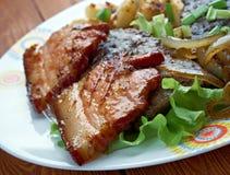 Calf liver and bacon Stock Photo