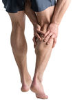 Calf pain. Royalty Free Stock Photos