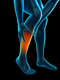 Calf pain Stock Images