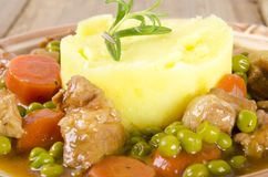Calf's fricassee Stock Photo