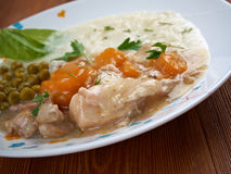 Calf's fricassee. Fricassee of Chicken with Vegetables Royalty Free Stock Photos