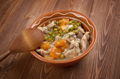 Calf's fricassee. Fricassee of Chicken with Vegetables Stock Image