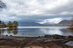 Calfclose海湾Derwent水在湖区 图库摄影