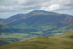 Calfhow Pike and Skiddaw Stock Photography
