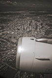 Calgary from air Royalty Free Stock Photography