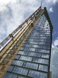 Calgary, Alberta, Canada Nieuwe TELUS-Hemel moderne toren die in aanbouw bouwen stock afbeeldingen