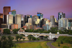 Calgary, Alberta, Canada skyline Royalty Free Stock Photos