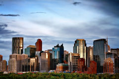 Calgary, Alberta, Canada skyline Royalty Free Stock Images