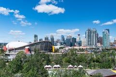 Calgary, Alberta City Skyline stockfoto