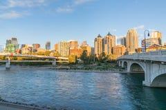 Calgary, Alberta City Skyline lizenzfreie stockfotos