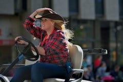 Calgary-Ansturm-Parade - größte Show im Freien auf Erde, Calgary, Alberta, Kanada lizenzfreie stockbilder