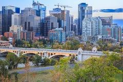 Calgary au coucher du soleil Photos libres de droits