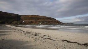 Calgary Bay Isle of Mull Scotland uk one of the islands beautiful white sand beaches pan stock video footage