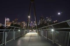 Calgary bij Nacht Stock Afbeelding