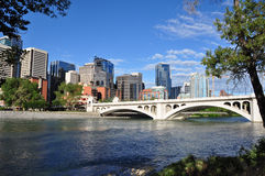 Calgary, Bow River Royalty Free Stock Photo