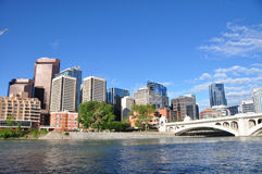 Calgary, Bow River stock images