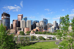 Calgary, Bow River Royalty Free Stock Photos