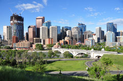 Calgary, Bow River stock photography