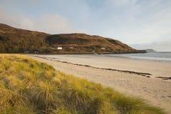 Calgary-Buchtstrand Insel von Mull Argyll und hochgebogene Hinterkante Schottland britisches schottisches inneres Hebrides Lizenzfreie Stockbilder
