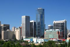 Calgary céntrica fotos de archivo libres de regalías