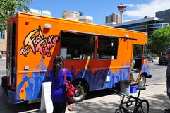 Calgary, camion de nourriture de chasseur de nourriture Image libre de droits