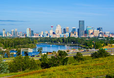 Calgary, Canada. Skyscrapers in downtown Calgary, Canada royalty free stock photo