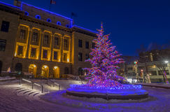 Calgary at Christmas Royalty Free Stock Photography