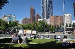 Calgary city park Royalty Free Stock Images