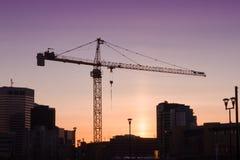 Calgary City Sunset Stock Photo