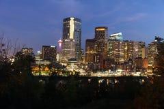 Calgary da baixa Imagens de Stock Royalty Free