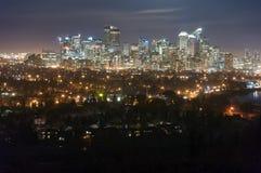 Calgary da baixa Foto de Stock Royalty Free