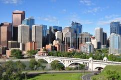 Calgary, de Rivier van de Boog stock foto