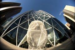 Calgary de stad in stock foto