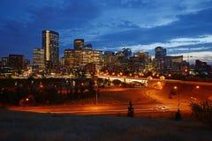 Calgary de stad in stock afbeelding