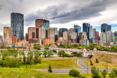 Calgary del centro in HDR Immagine Stock Libera da Diritti