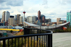 Calgary Downton and CN-Tower royalty free stock images