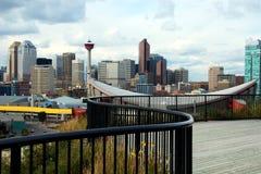 Calgary Downton und KN-Kontrollturm Lizenzfreie Stockbilder