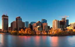 Calgary Downtown. View of downtown Calgary from across the Bow River Stock Photography