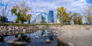 Calgary downtown as viewed from St. Patrick's Island Royalty Free Stock Image