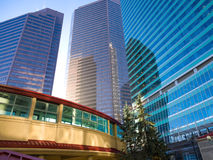 Calgary Downtown view. Modern office buildings in Calgary, Alberta, a booming oil center in Canada Royalty Free Stock Photos