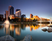 Calgary du centre photographie stock