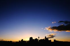 Calgary at Dusk Royalty Free Stock Photo